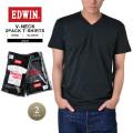 EDWIN エドウィン 449405 2パック VネックTシャツ2色