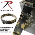 ROTHCO �?�� MARINE CORPS STYLE QUICK RELEASE �ԥ��ȥ�٥�� WOODLAND CAMO