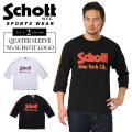 Schott ショット 3173034 クォータースリーブTシャツ