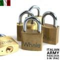 実物 新品 イタリア軍 パドロック 5個セット