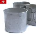 実物 スイス軍 アルミキャンティーンカップ