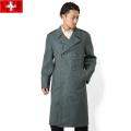 実物 スイス軍グレーウール ロングコート