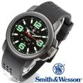 【キャンペーン対象外】 Smith & Wesson スミス&ウェッソン AMPHIBIAN COMMANDO 腕時計 BLACK SWW-1100