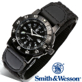 【クーポン対象外】 Smith & Wesson スミス&ウェッソン SWISS TRITIUM 357 SERIES TACTICAL WATCH 腕時計 NYLON BLACK SWW-357-N