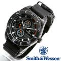 【キャンペーン対象外】 Smith & Wesson スミス&ウェッソン CAVALRY WATCH 腕時計 BLACK SWW-584-BK
