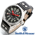 【クーポン対象外】 Smith & Wesson スミス&ウェッソン MUMBAI LAMPLIGHTER WATCH 腕時計 BLACK/SILVER SWW-GRH-1