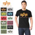 ALPHA アルファ TC1126 S/S プリント Tシャツ ALPHA MARK