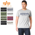 ALPHA アルファ TC1126 S/S プリント Tシャツ ALPHA LOGO