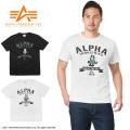 ALPHA アルファ TC1170 S/S FELIX プリント Tシャツ M-65
