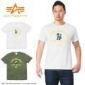 ALPHA アルファ TC1170 S/S FELIX プリント Tシャツ MA-1
