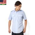 実物 新品 米空軍 AF BLUE 半袖ドレスシャツ