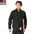 実物 米軍 U.S.NAVY ドレスシャツ ブラック