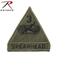 ☆創業祭☆20%OFF☆ROTHCO ロスコ 72106 SPEARHEAD 3RD ARMORED パッチ