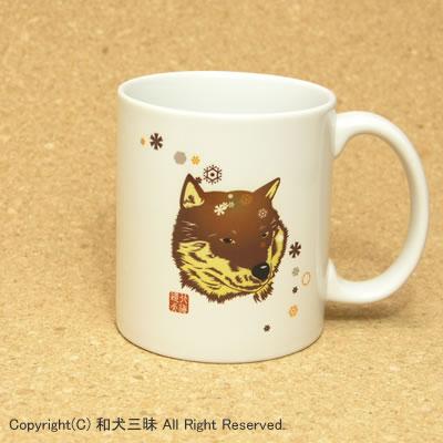 北海道犬と雪(マグカップ)