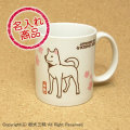 紀州犬グッズ 紀州犬と桜002(名入れマグカップ)