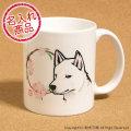 紀州犬と花丸 マグカップ