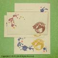 四国犬と桜レターセット