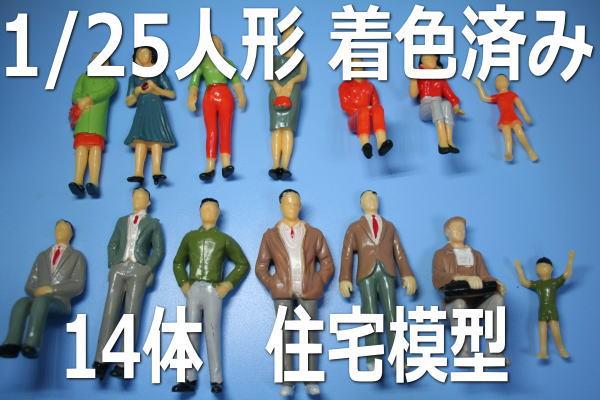 1/25 人形 フィギュア 建築模型 住宅模型