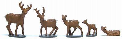 1/150 情景アクセサリー 鹿セット【YSK】【鉄道模型】【カラーレジン製】【Nゲージ】【メール便可】