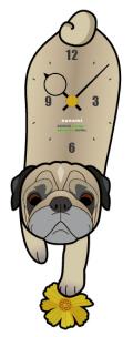 犬の振り子時計