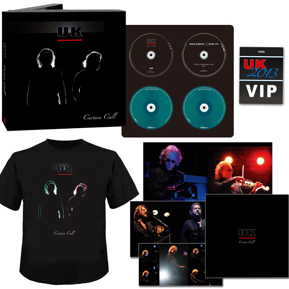 In Each Box You Have The Bluray Of The Concert, The Audio On 2 CDs, A Bonus  DVD With A Long Interview Of Eddie Jobson, T Shirt And Book(s) Filled With  Great ...