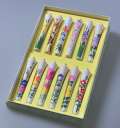 定番 大人気の季節花柄 6号絵ろうそく「花こよみ」(手描き)12本入