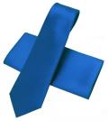 ネクタイ 本繻子 ブルー