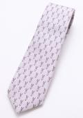 ネクタイ うさぎパープル