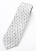 ネクタイ うさぎシルバー