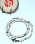 39 (SunKu/サンク) Antique & Turquise Beads Necklace & Bracelet / アンティーク&ターコイズビーズ ネックレス&ブレスレット