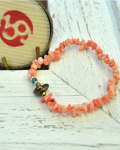 39 (SunKu/サンク) Pink Coral Bracelet / ピンクコーラルブレスレット