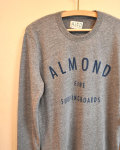 【MADE IN CALIFORNIA】ALMOND SURFBOARDS (アーモンドサーフボード)FINE SURFING BOARDS PULLOVER CREW SWEAT