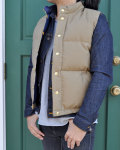 WATER x CRESCENT DOWN WORKS (クレセント ダウン ワークス) SEATTLE VEST / シアトルベスト