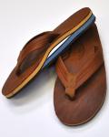 ★少量入荷!!★RAINBOWSANDAL (レインボーサンダル) Tan Leather Blue Double Layer Arch