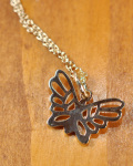 STANDARD CALIFORNIA (スタンダードカリフォルニア) SD Made in USA Butterfly Necklace 8K GOLD/バタフライネックレス