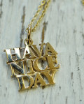STANDARD CALIFORNIA (スタンダードカリフォルニア) SD MADE IN USA H.N.D NECKLACE GOLD
