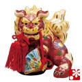 九谷焼 5号扇面獅子 盛(WAZAHONPO-41856)