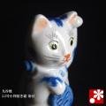 小判招き猫(左手) 染付(WAZAHONPO-41689)