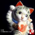 鯛招き猫(右手) よもぎ(WAZAHONPO-41698)