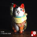 招き猫(右手) 赤黒盛(WAZAHONPO-41713)