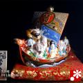 九谷焼 6号七福神宝船 盛(WAZAHONPO-41847)