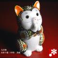 お祈り猫(中型) 特上黒盛(WAZAHONPO-oinori-black)