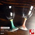 九谷和グラス ペアワイングラス マーガレット(WAZAHONPO-WAGLASS02)