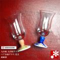 九谷和グラス ペア冷酒グラス 花文(WAZAHONPO-WAGLASS03)