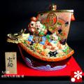九谷焼 8.5号恵比寿大黒宝船 盛(WAZAHONPO-41849)