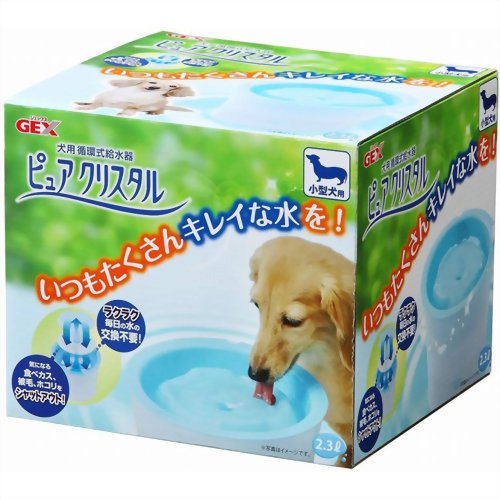 GEX ジェックス 犬用 循環式給水器 ピュアクリスタル 小型犬用 2.3L