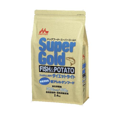 森乳 スーパーゴールド フィッシュ&ポテト(ダイエットライト)体重調整用低アレルゲンフード 2.4kg