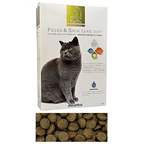 メディマル カトフ フィシズ&スキン ケア ダイエット・健康な便や皮膚を保ちたい成猫用 1kg 粒