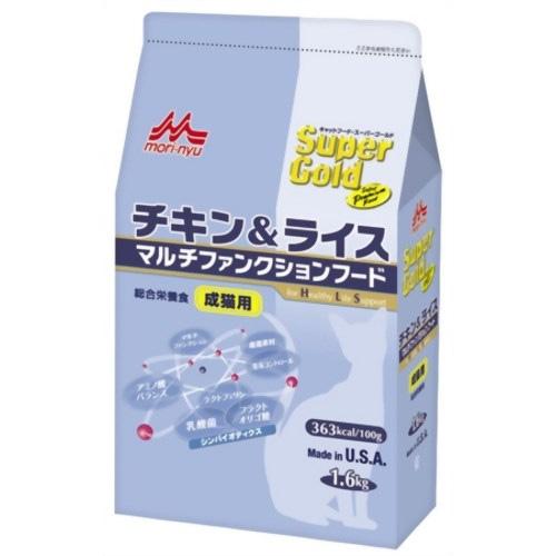 森乳 スーパーゴールド チキン&ライス マルチファンクションフード(成猫用) 1.6kg