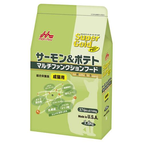 森乳 スーパーゴールド サーモン&ポテト マルチファンクションフード(成猫用) 1.6kg
